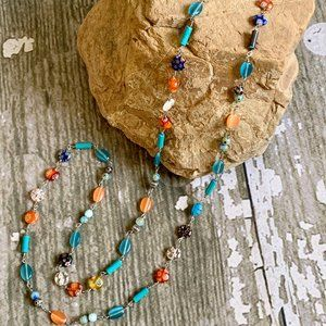 NEW Cookie Lee Beaded Necklace.Boho Layer Necklace